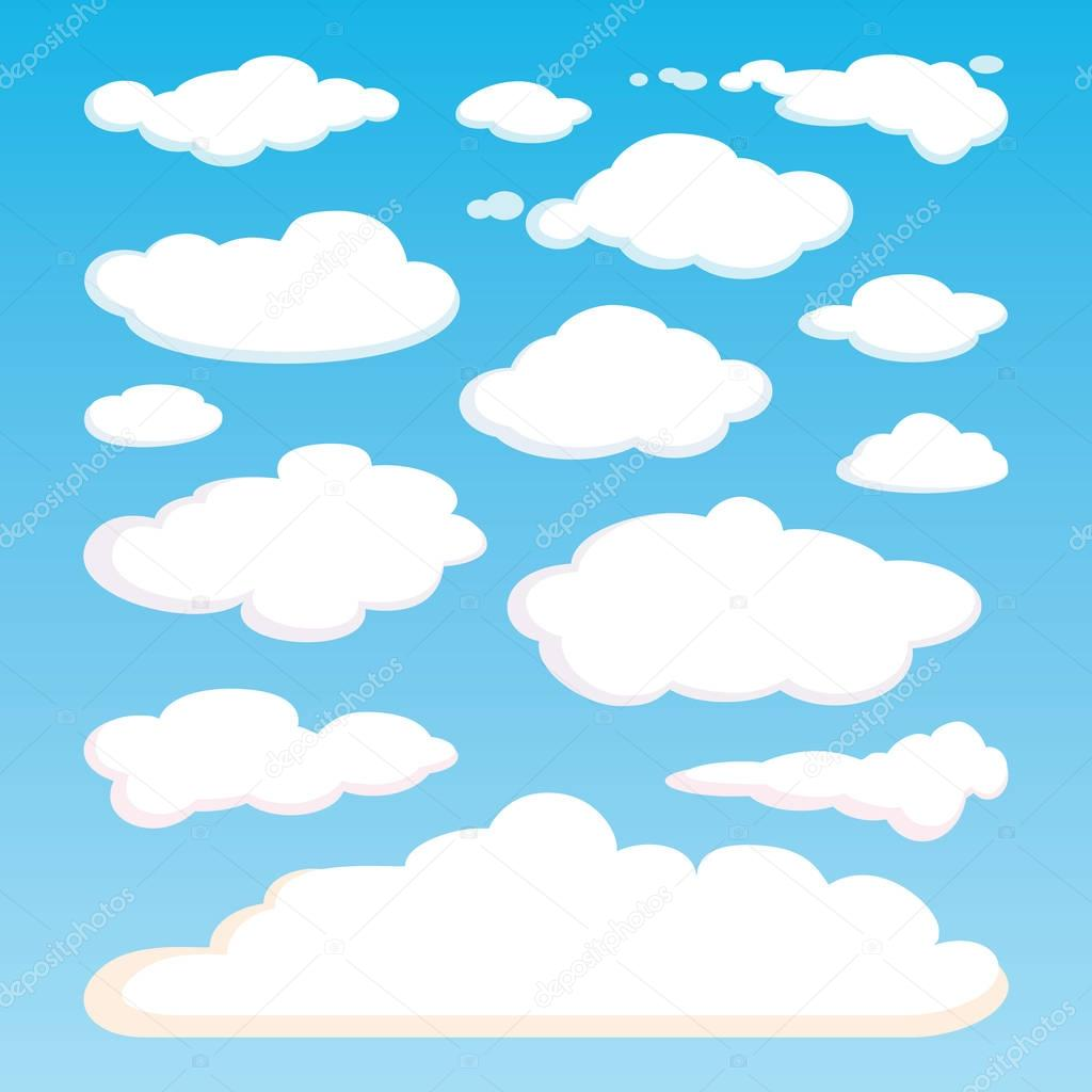 Motif De Nuages Blancs Isole Sur Fond De Ciel Bleu Image