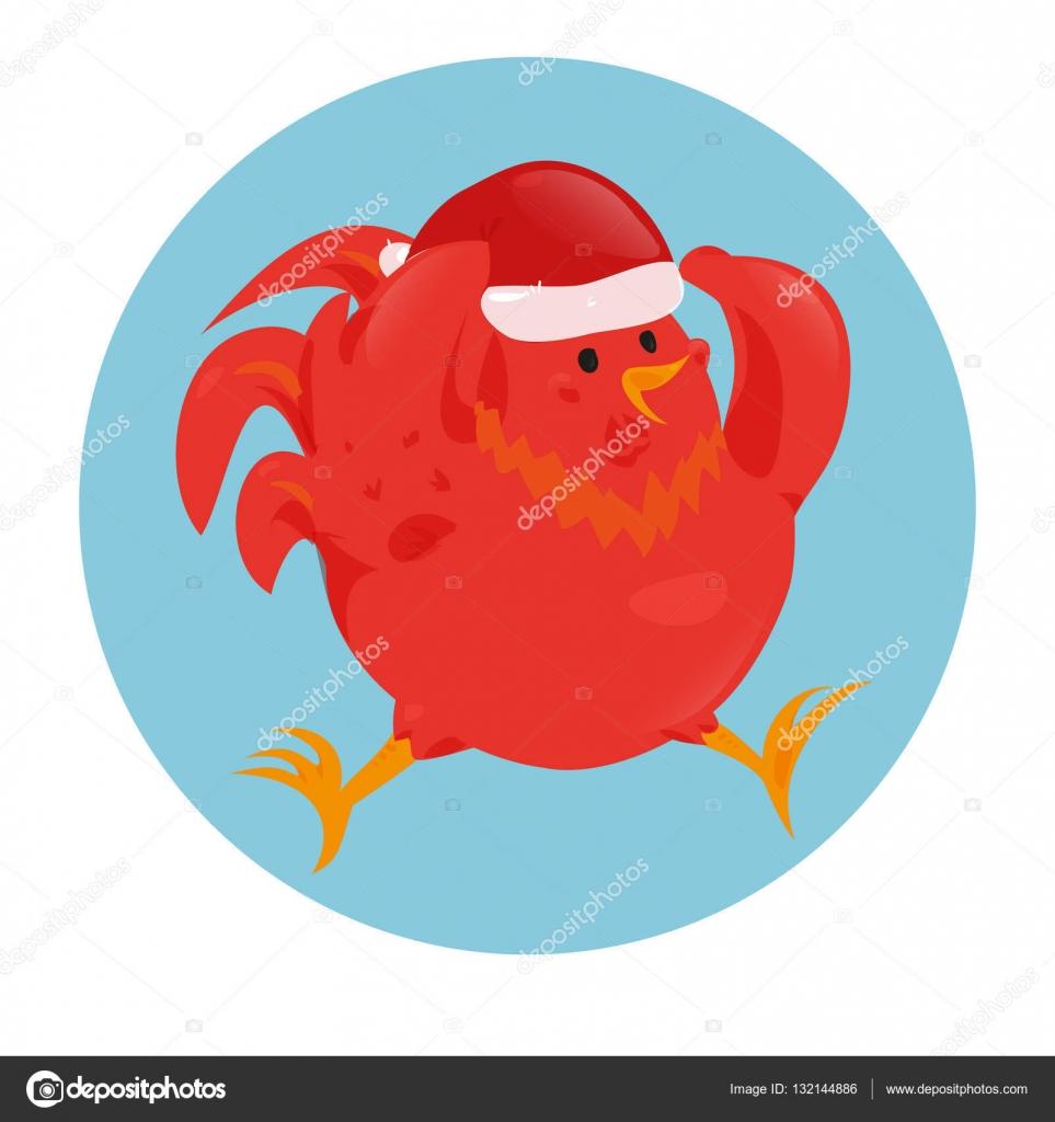 Cartoon chinese zodiac fire rooster  — Stock Vector © Kannaa #132144886