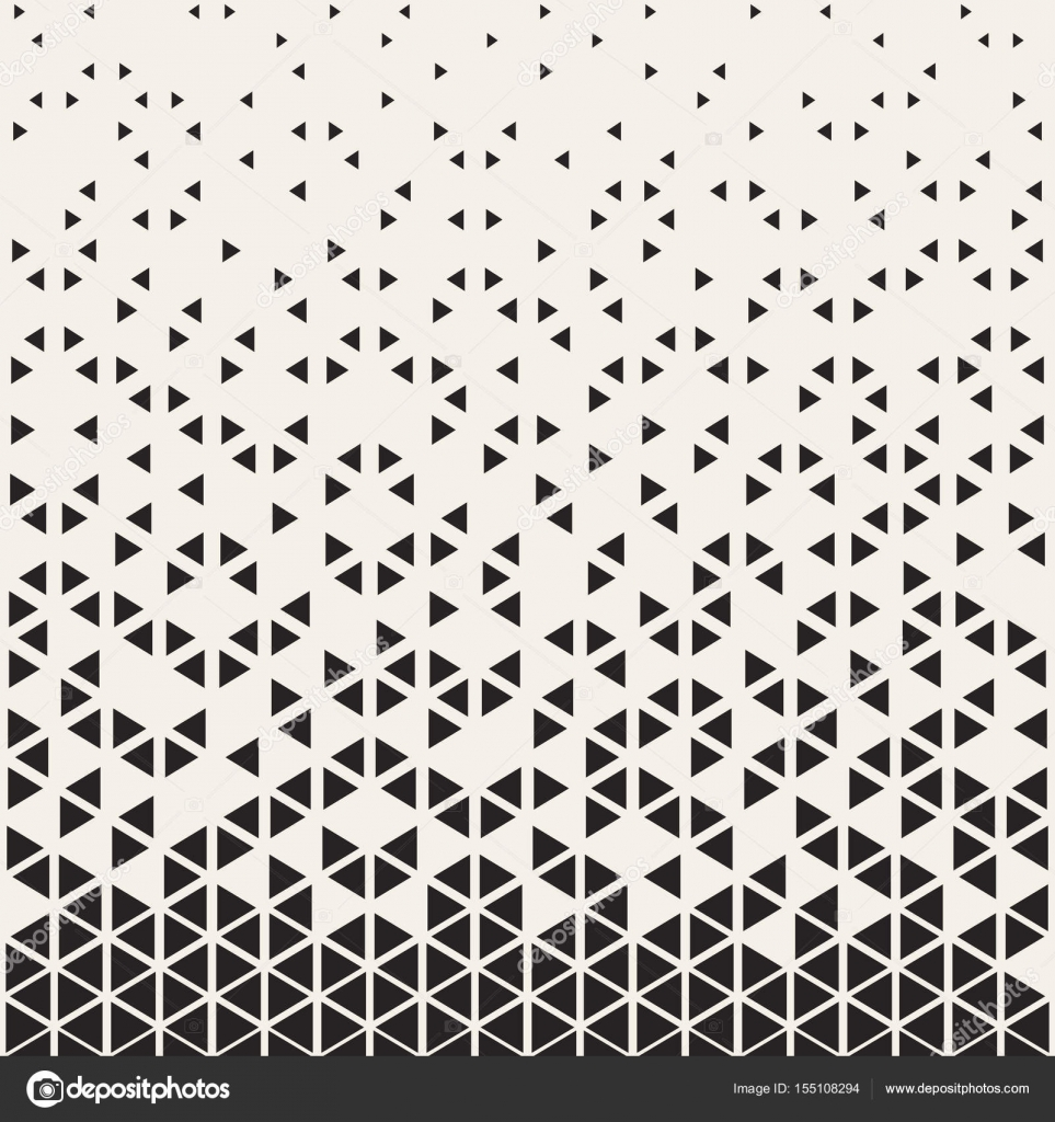 Abstract Geometric Pattern Design. Vector Illustration For Hipster Fashion.  White Black Colors. Triangle Shape Print. Halftone Graphic Background.