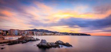 Sunrise over Lloret de mar, Spain, Costa brava