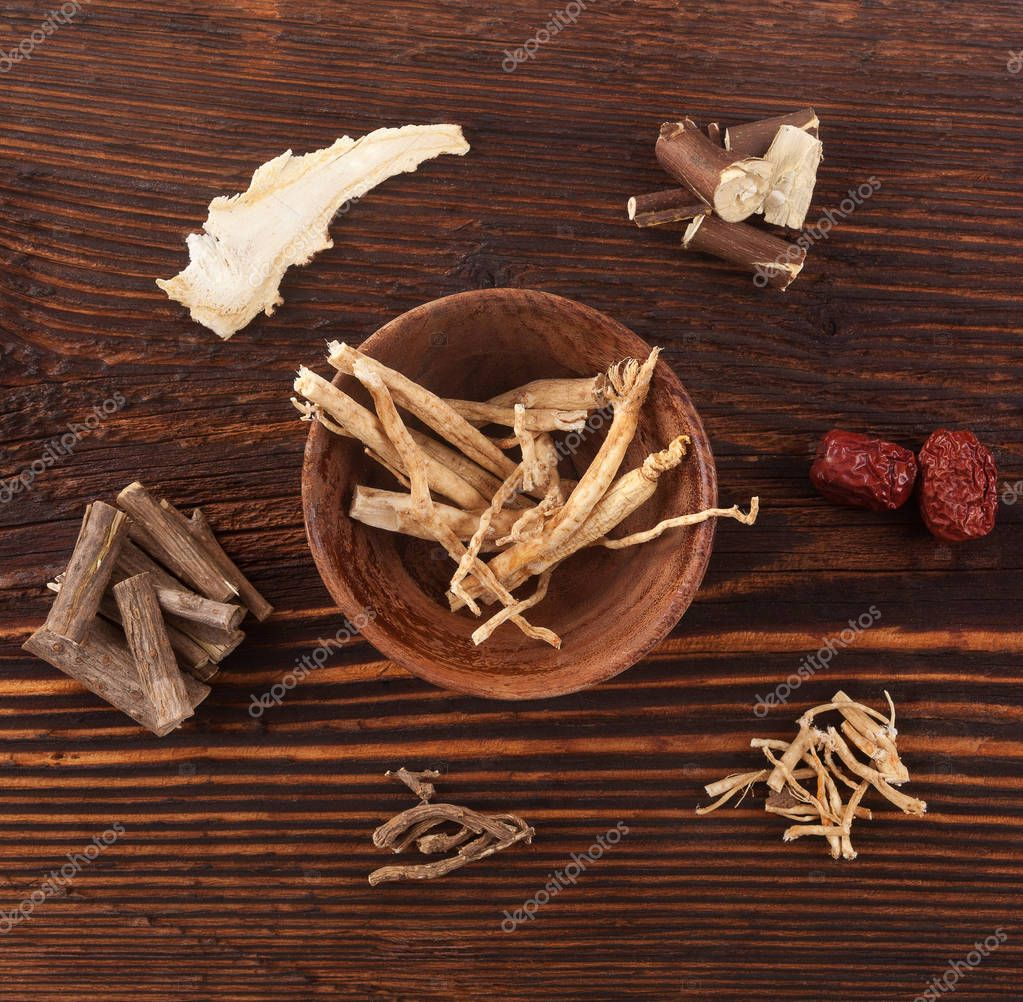 Ashwagandha and various medical herbs.