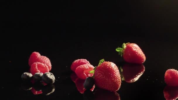 Fresh berries background.