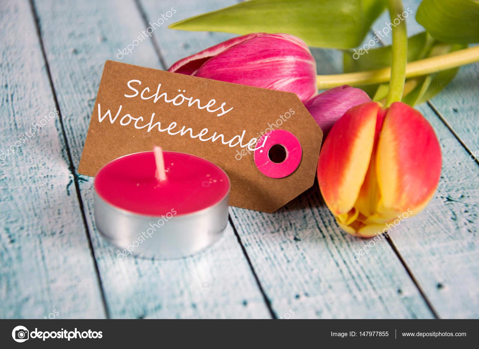 Schoenes wochenende - deutsche Wörter für ein glückliches