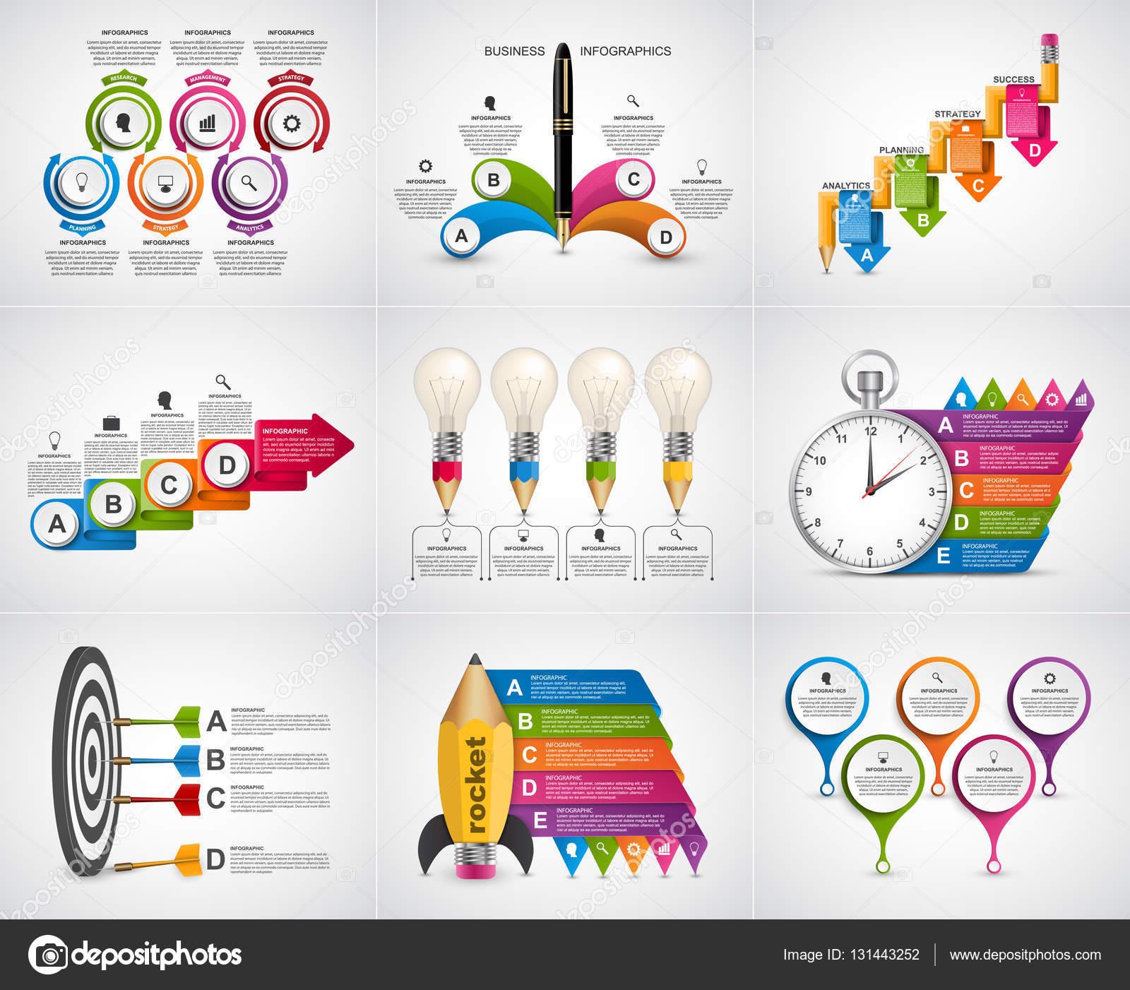 gran colecci u00f3n de infograf u00edas  elementos de dise u00f1o