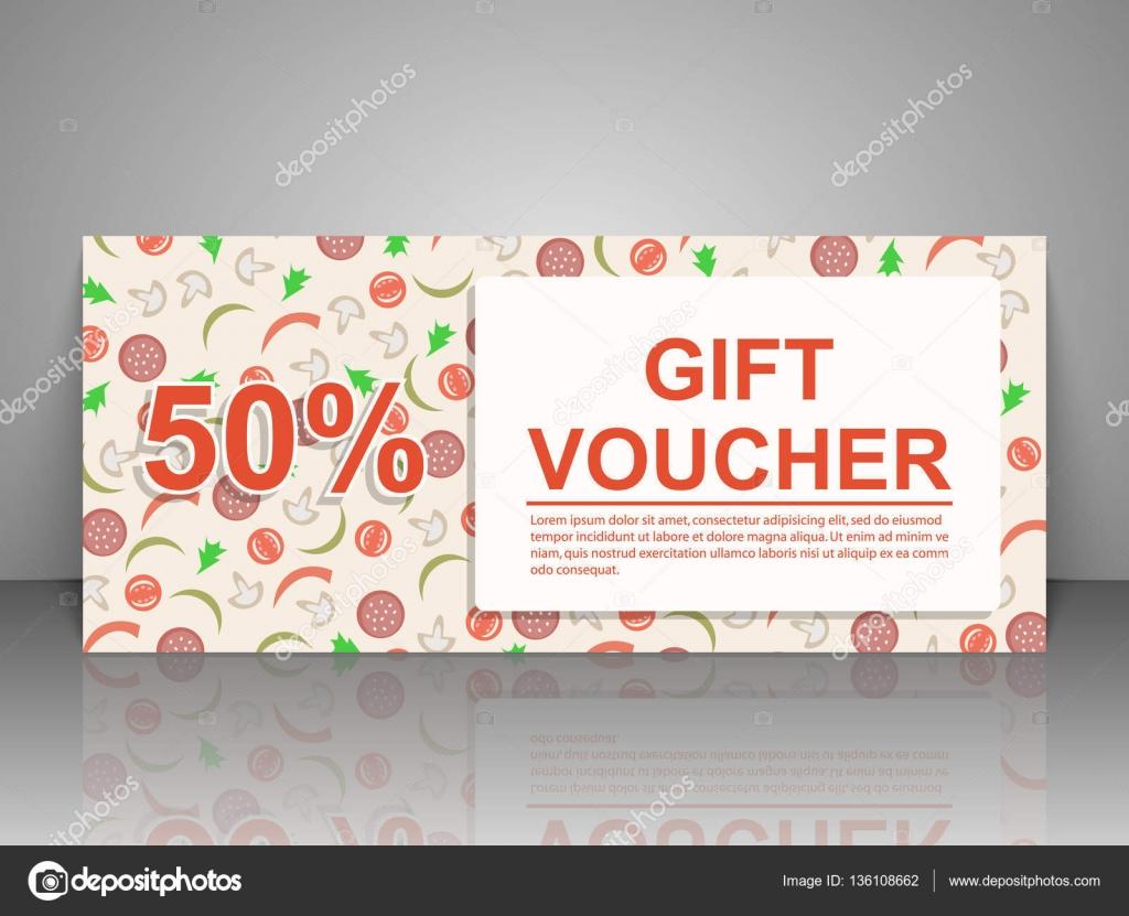 Gift Voucher Template Pizza Flyer Stock Vector Samarets - Pizza gift certificate template
