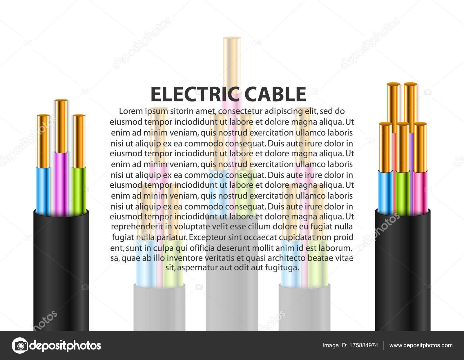 Elektrische Kabel Hintergrund. Defekte Kabel. Gestrandete ...