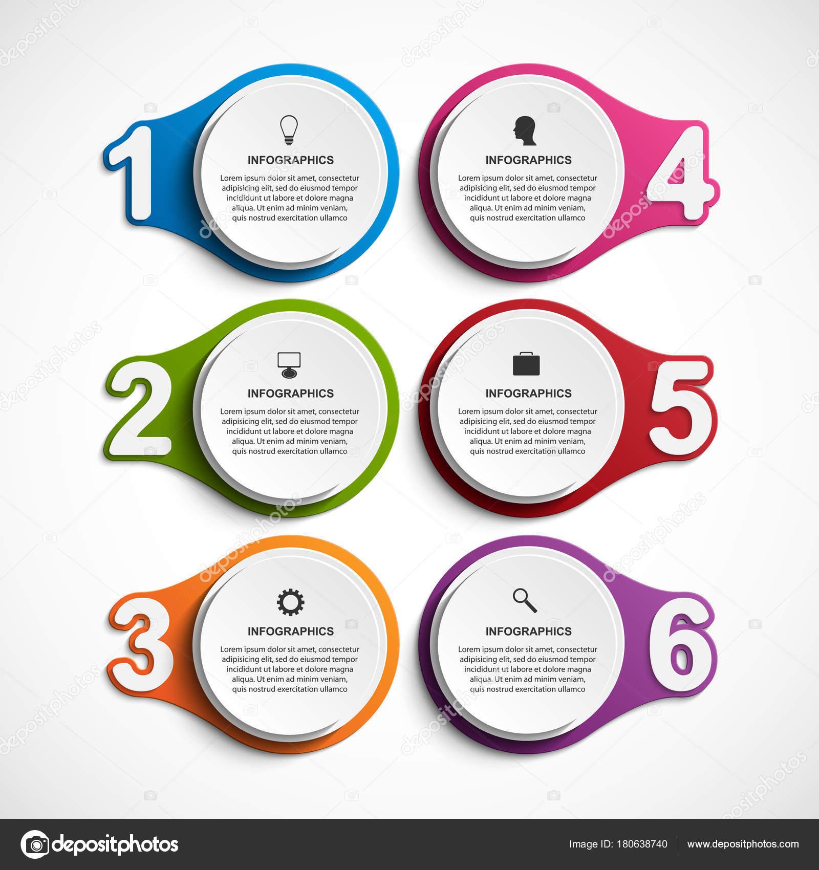 3c037b77a5c36 Plantilla de infografía Resumen opciones con la opción de números. Infografías  para presentaciones de negocios