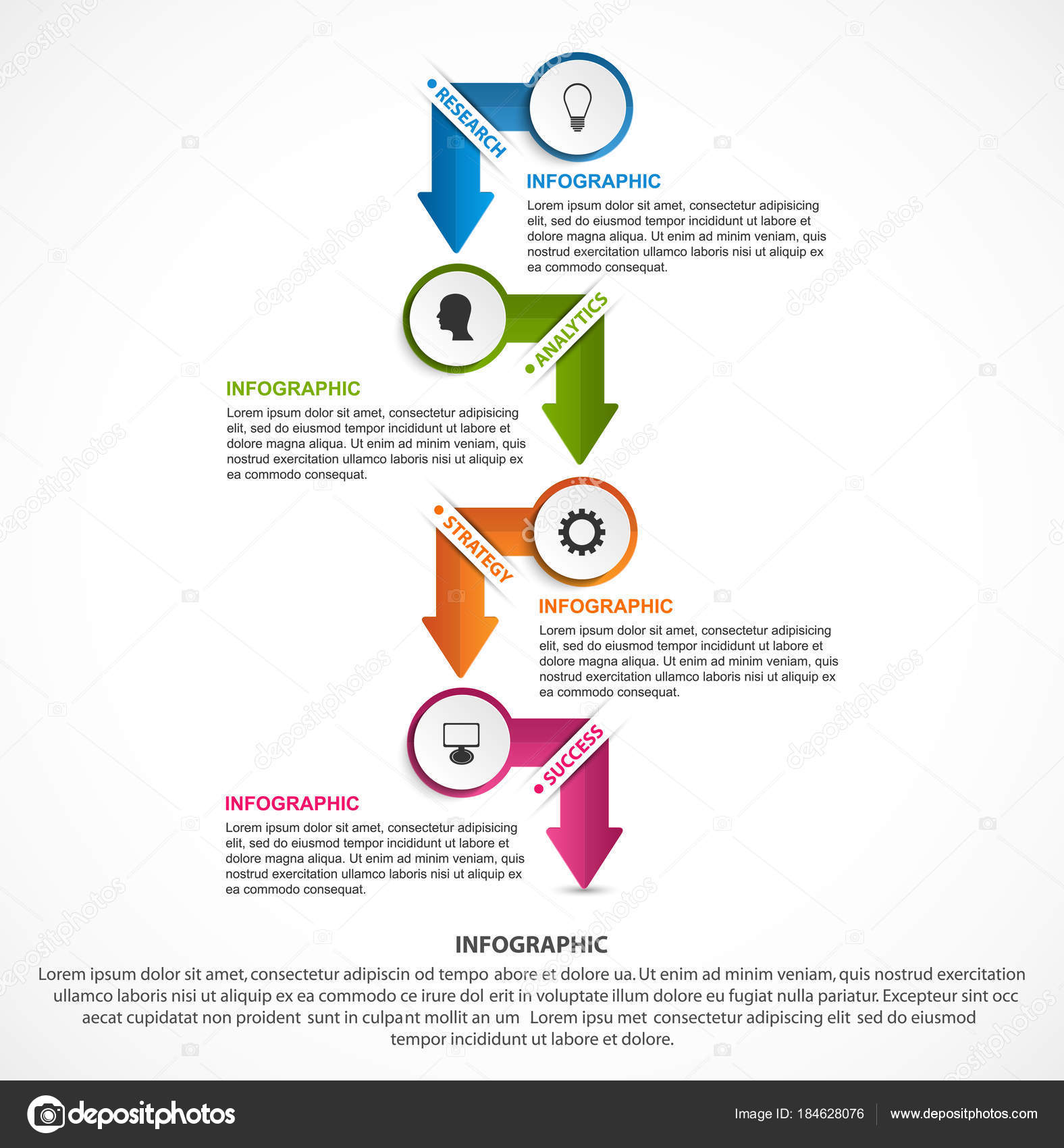 Abstract options infographics template Infographics for business
