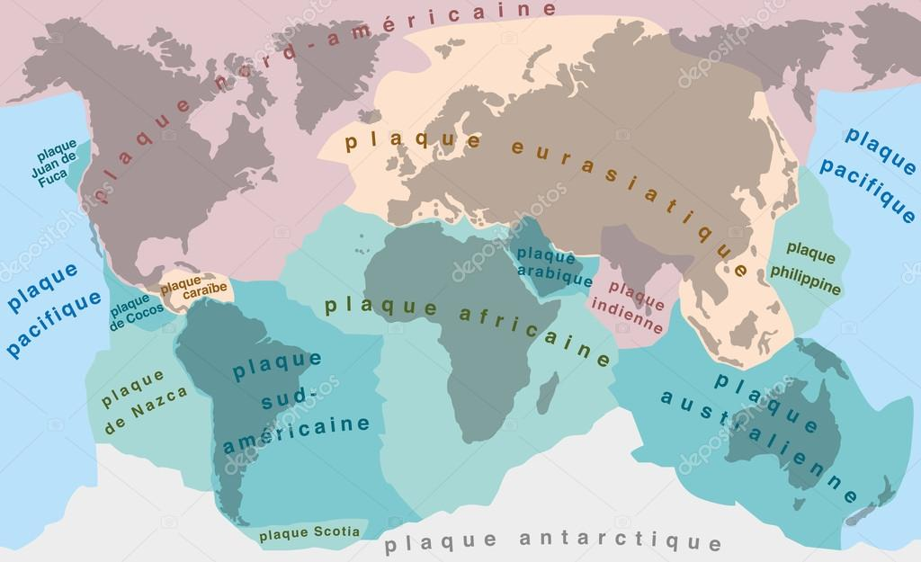 Tectonic Plates FRENCH TERMS