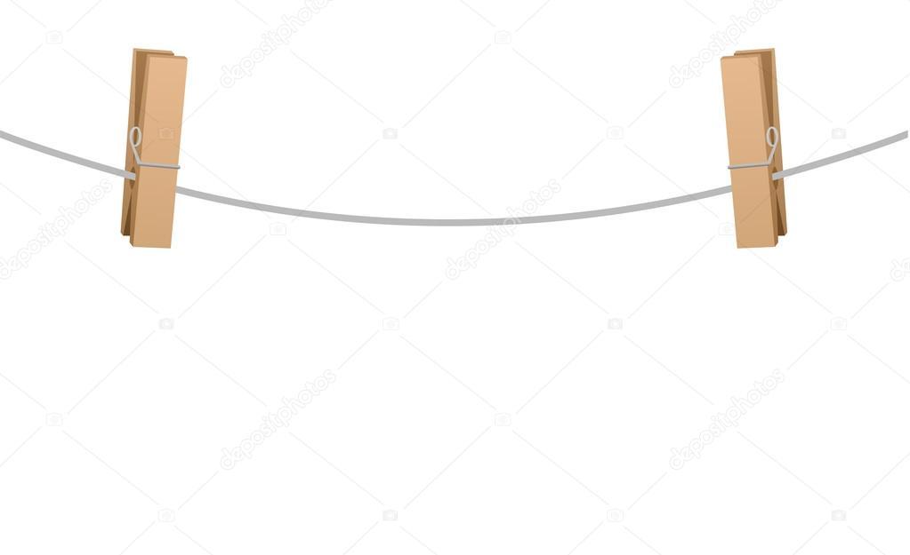 Dos pinzas para la ropa en la cuerda del tendedero - Tendederos de ropa de pared ...