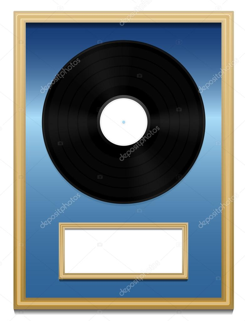 Placa de acrílico Premio de grabar música de vinilo sin etiqueta ...