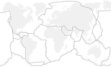 Tectonic Plates Unlabeled