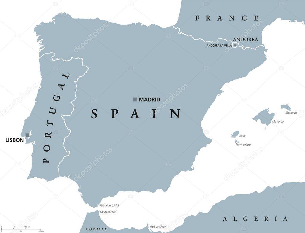 mapa portugal e espanha Mapa político de Portugal e Espanha — Vetor de Stock © Furian  mapa portugal e espanha