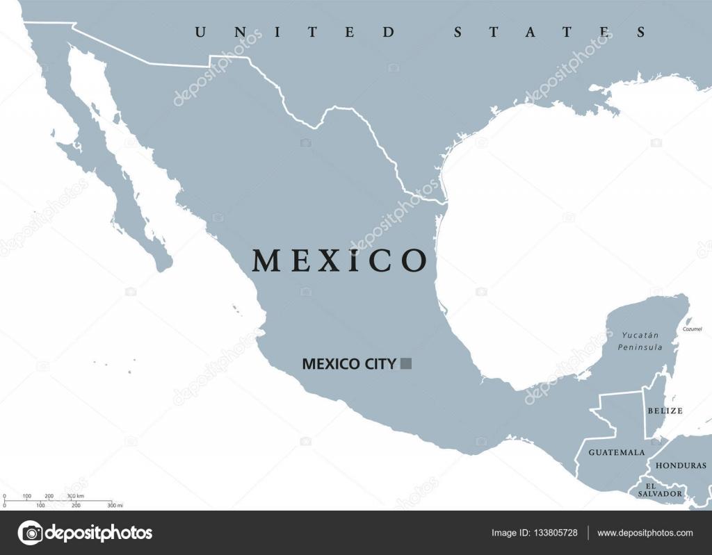 Vector Mapa De Republica Mexicana Mapa Político De México