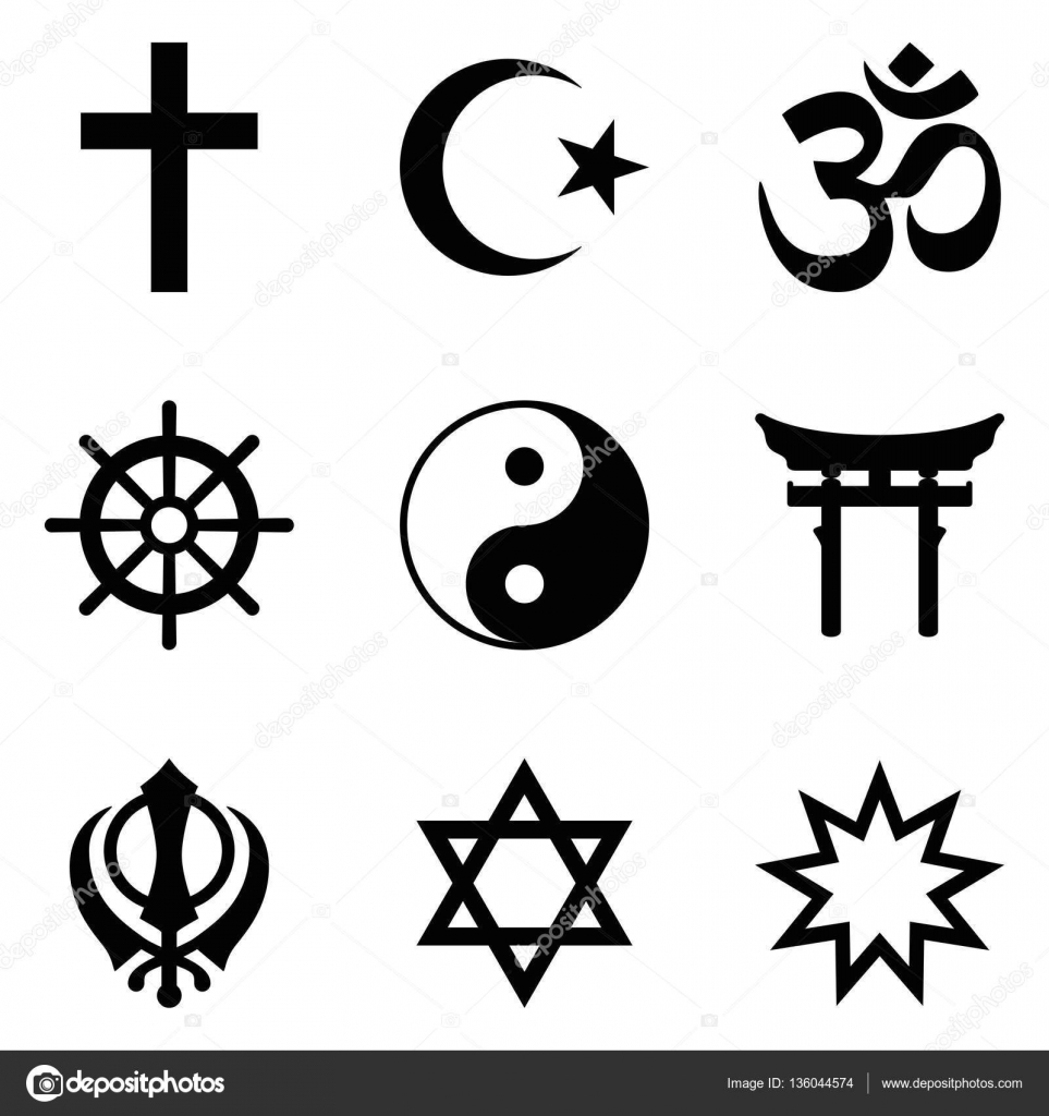 Nine symbols of world religions and major religious groups stock nine symbols of world religions and major religious groups stock vector buycottarizona