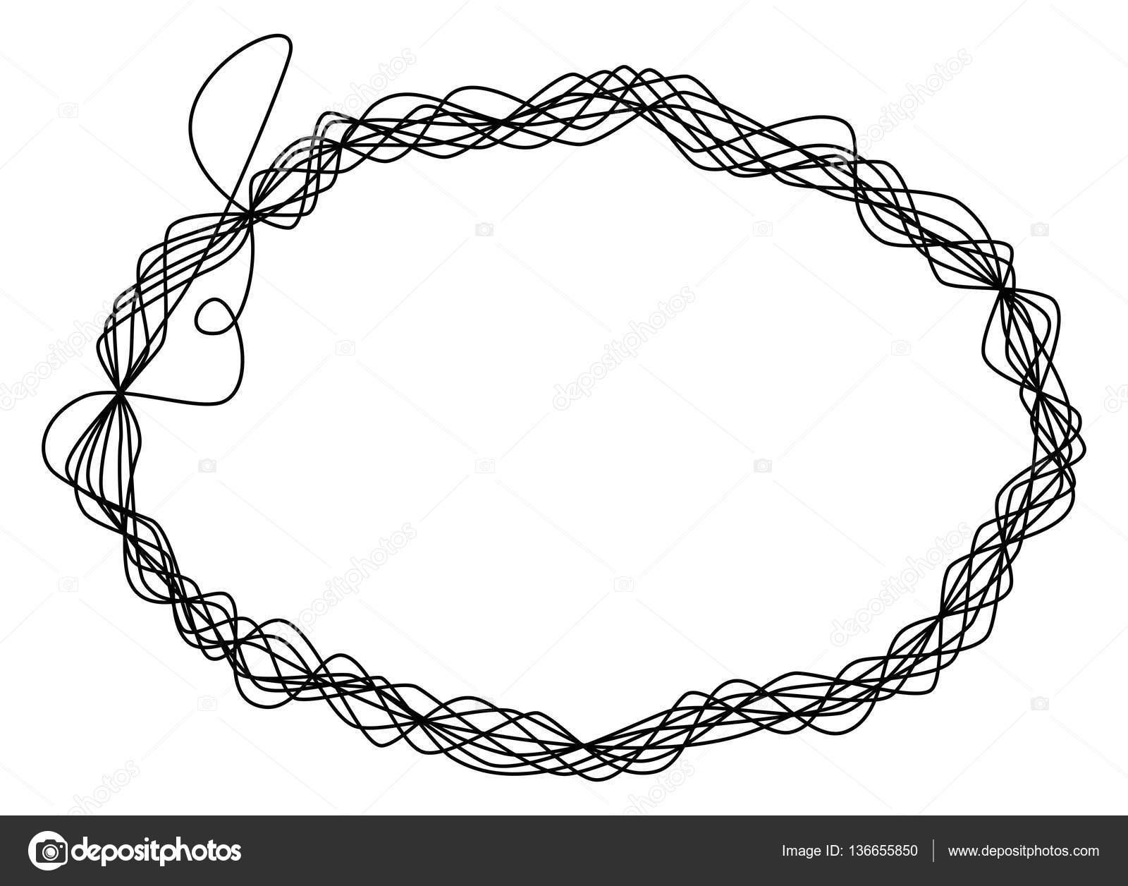 Elipse de alambre hilo único marco — Vector de stock © Furian #136655850