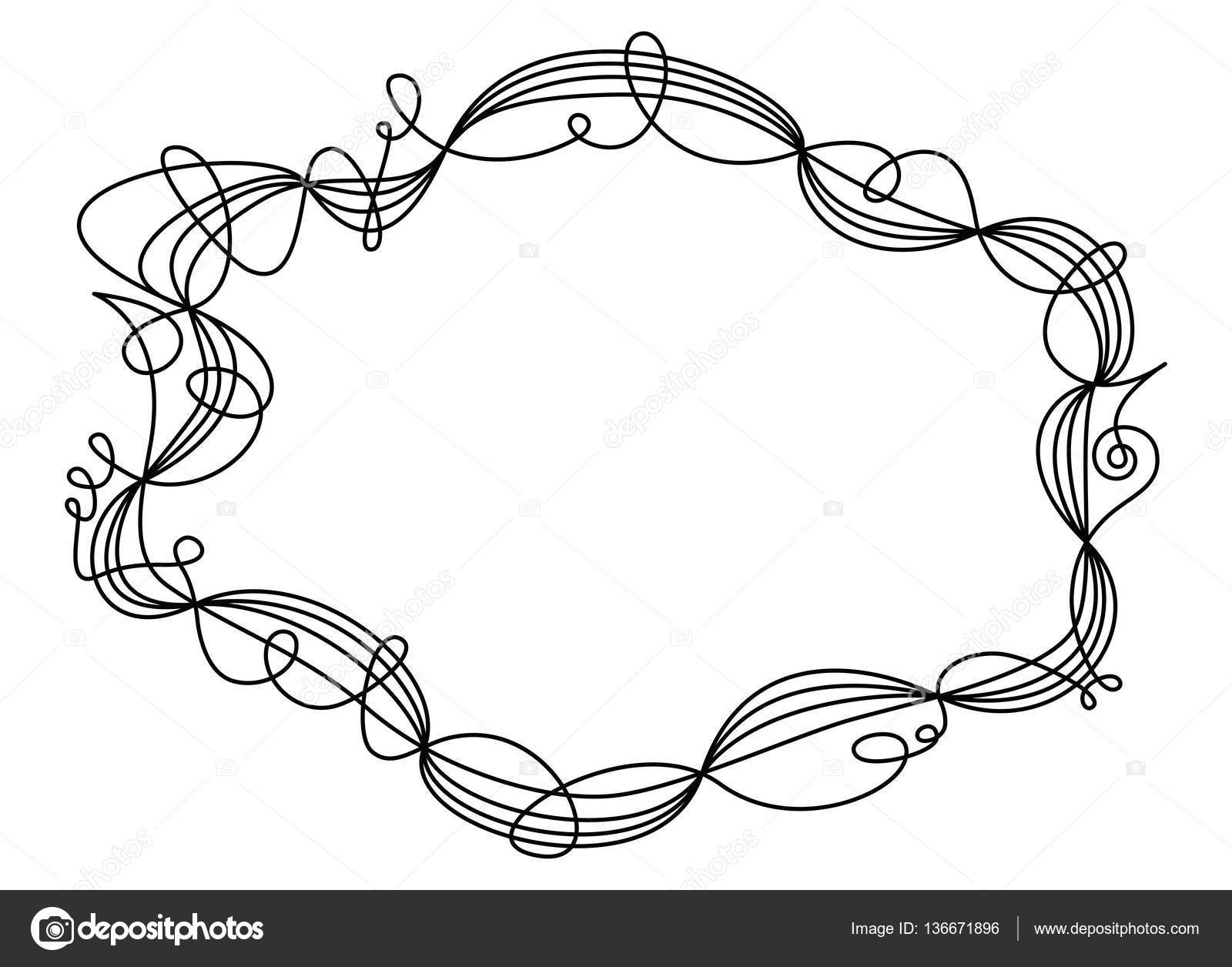 Ornamento decorativo de solo swing hilo marco — Vector de stock ...