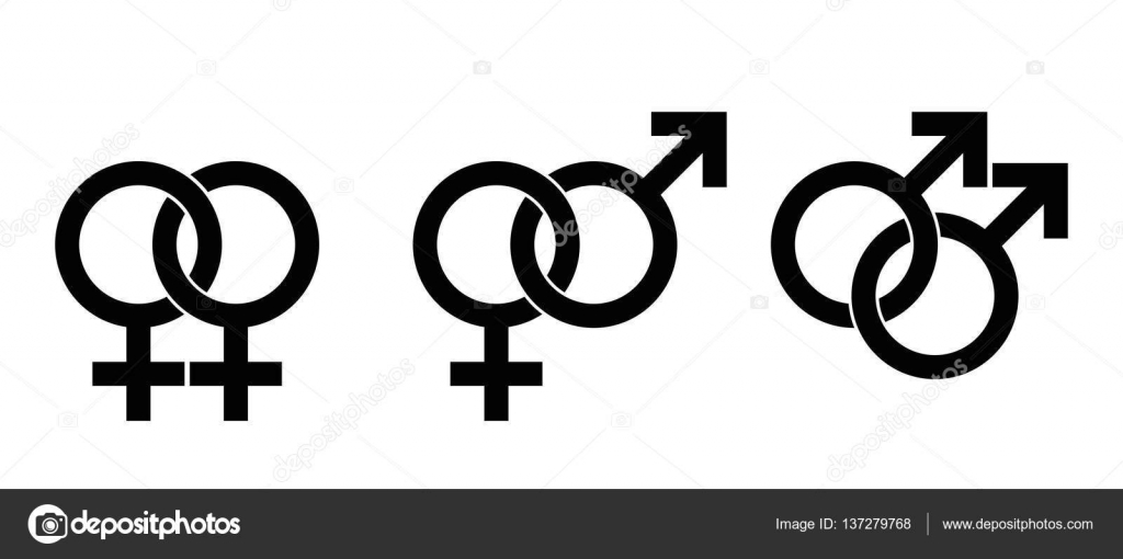 Gender Identity Symbols For Homosexuality And Heterosexuality