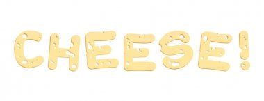 Cheese Letters Illustration