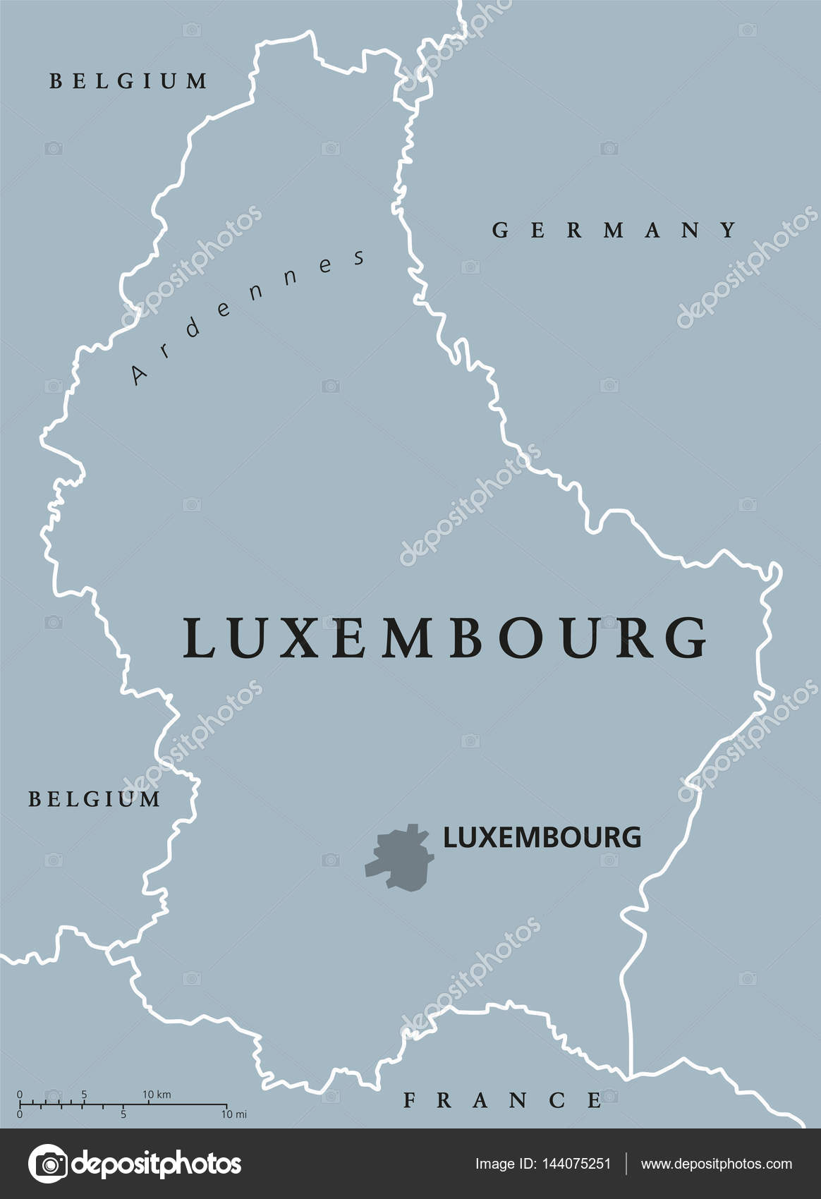 Luxembourg Political Map Stock Vector C Furian 144075251