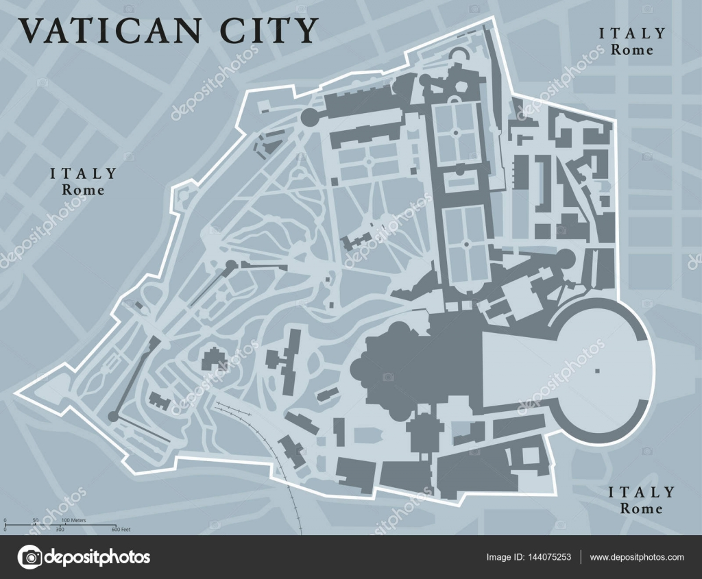 Vatican City State political map — Stock Vector © Furian