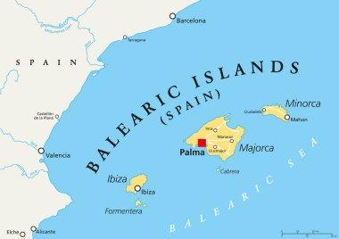 Balearic Islands political map