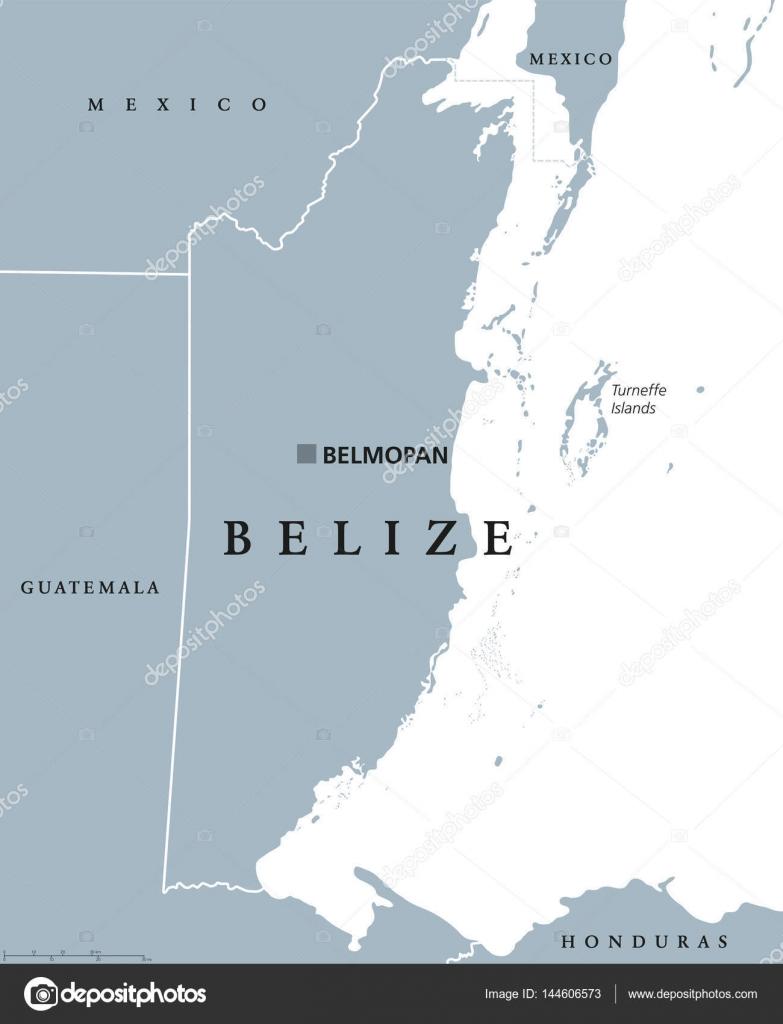 Belize political map — Stock Vector © Furian #144606573