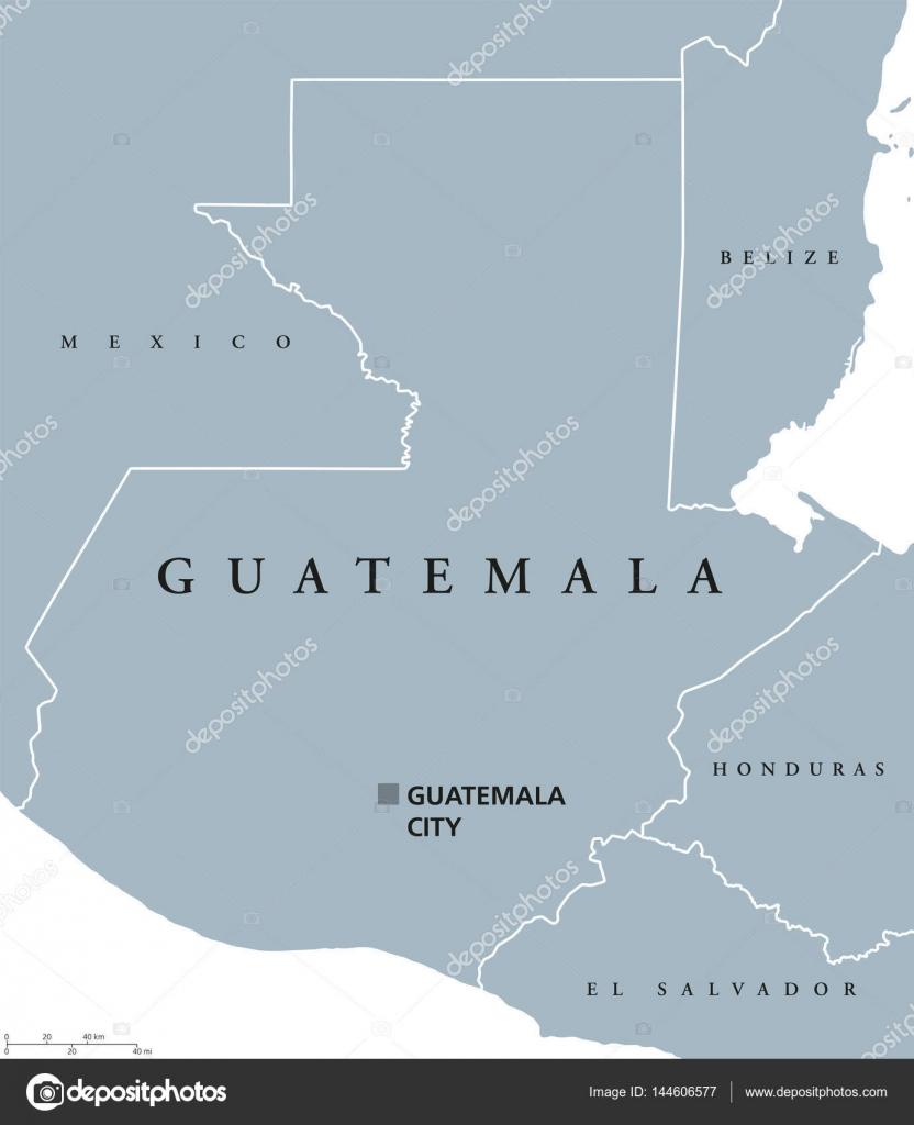 Canvastavla Guatemala Karta Pixers Vi Lever For Forandring