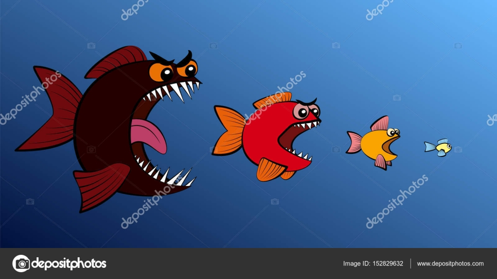 Peixe grande come o menor cadeia alimentar de peixes for Big fish script