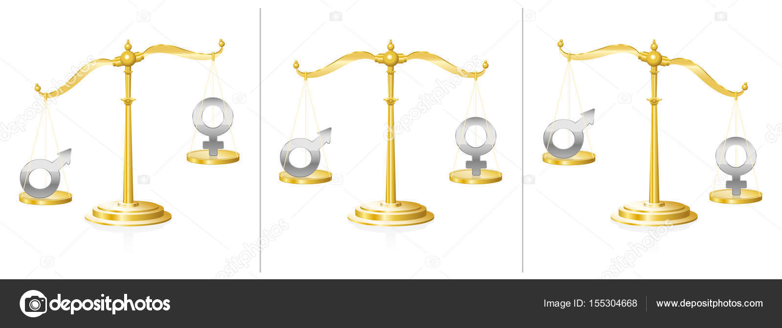 Equal Rights Scale Women Men Stock Vector Furian 155304668