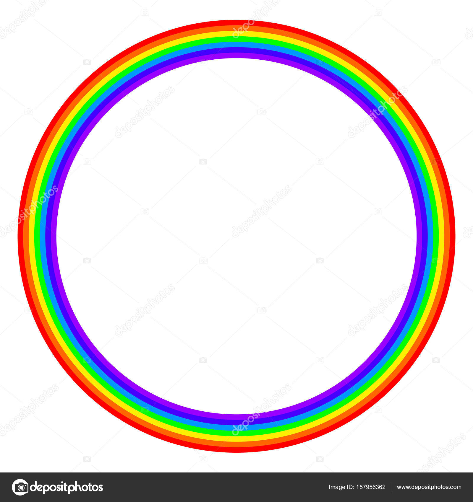 Cercle De Couleur Arc En Ciel Sur Fond Blanc Image Vectorielle