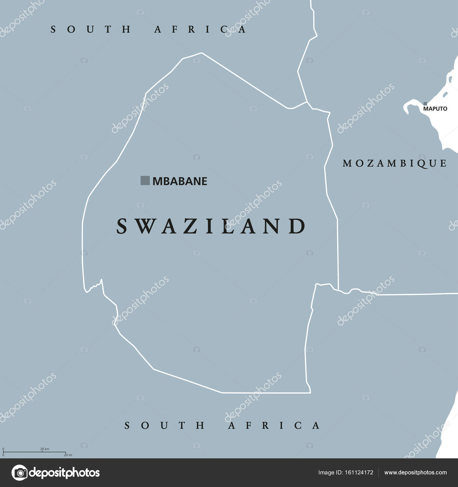 Swaziland political map stock vector furian 161124172 swaziland political map with capital mbabane kingdom of eswatini sometimes called kangwane sovereign state and landlocked country in south africa ccuart Gallery