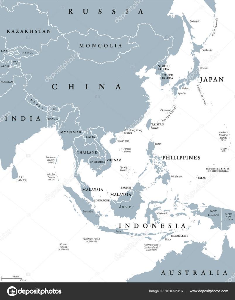 Political Map East Asia.East Asia Political Map Stock Vector C Furian 161652316
