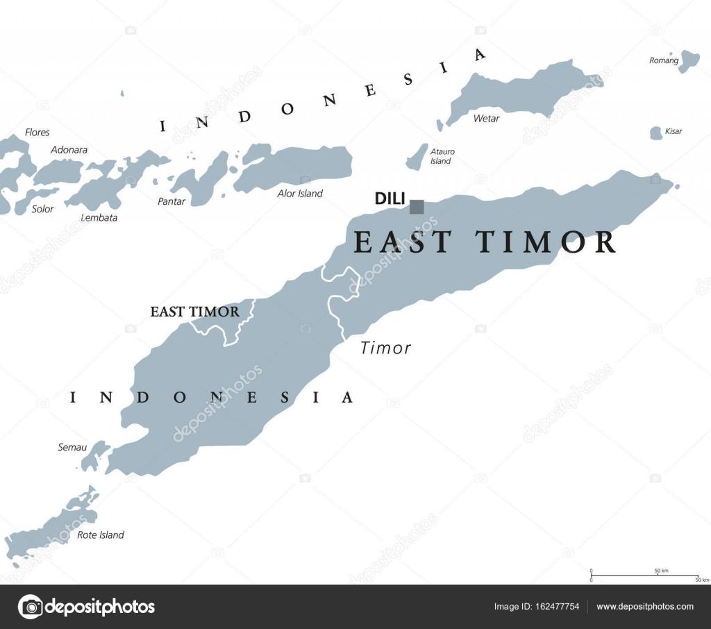 East Timor Or Also Timor Leste Political Map Stock Vector - East timor seetimor leste map vector