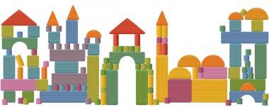 Toy Blocks City Skyline