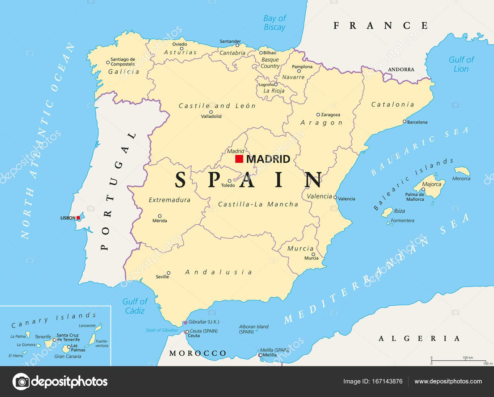 Carte Espagne Telecharger.Les Divisions Politiques Et Administratives Carte Espagne Image