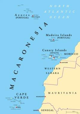 Macaronesia political map