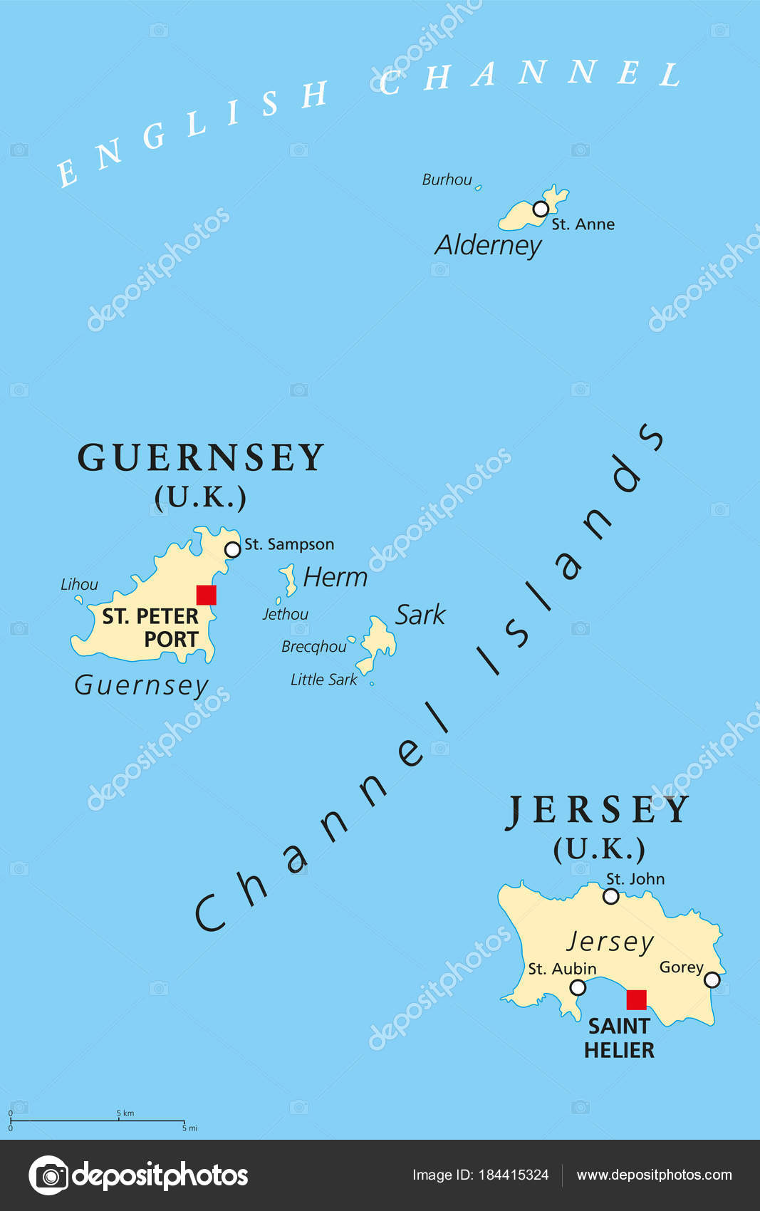Channel Island Of Jersey Map