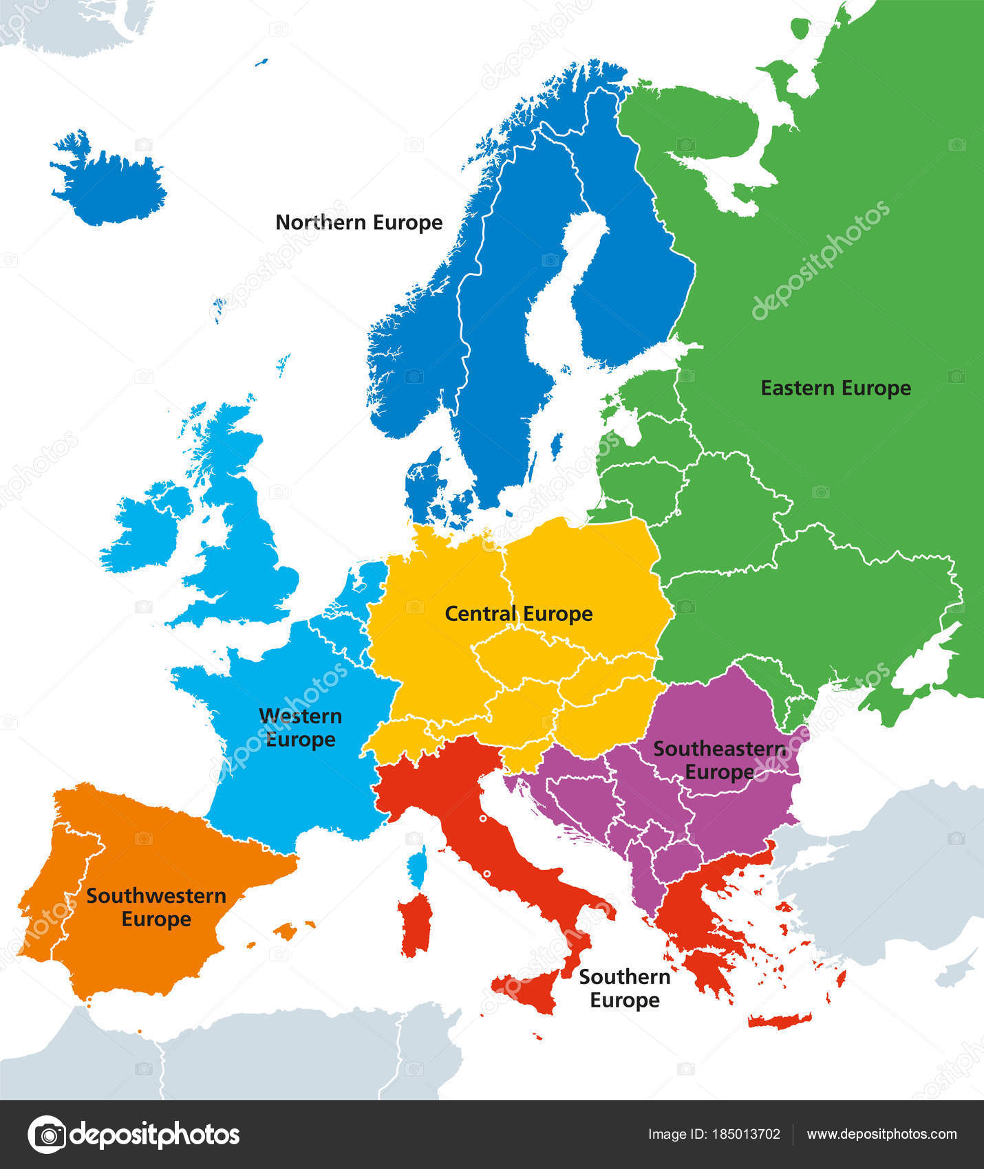 Mapa De Europa Politico.Fotos Mapas De Europa Regiones De Europa Mapa Politico