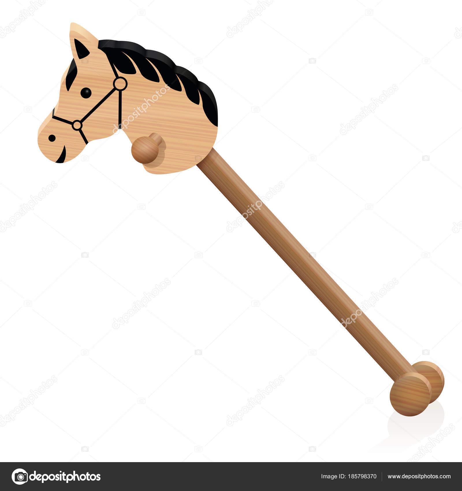 Cavallo Di Legno Giocattolo.Giocattolo Di Legno Childs Del Cavallo Di Hobby Vettoriali