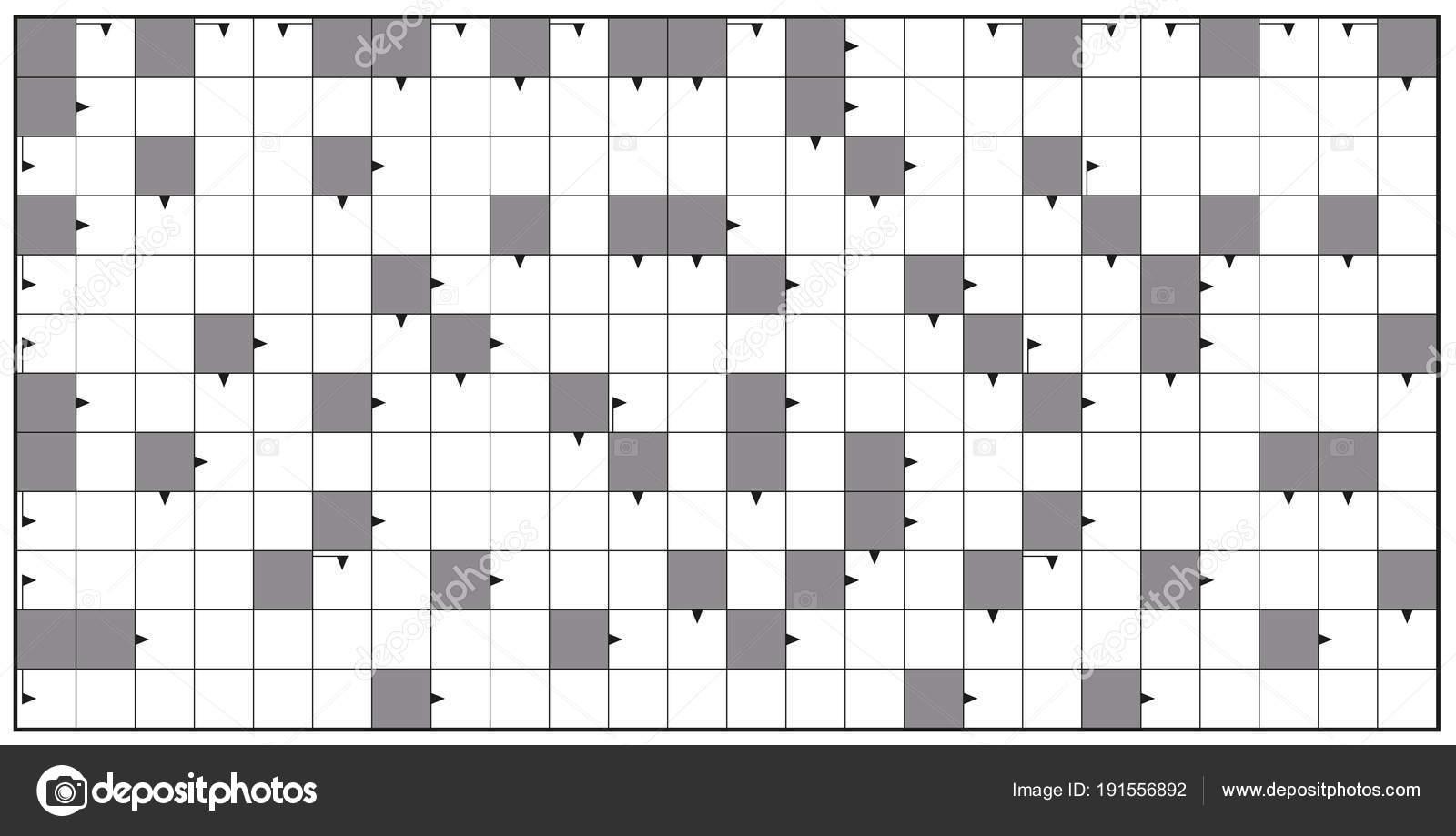 Blank Crossword Puzzle Horizontal Format Stock Vector C Furian