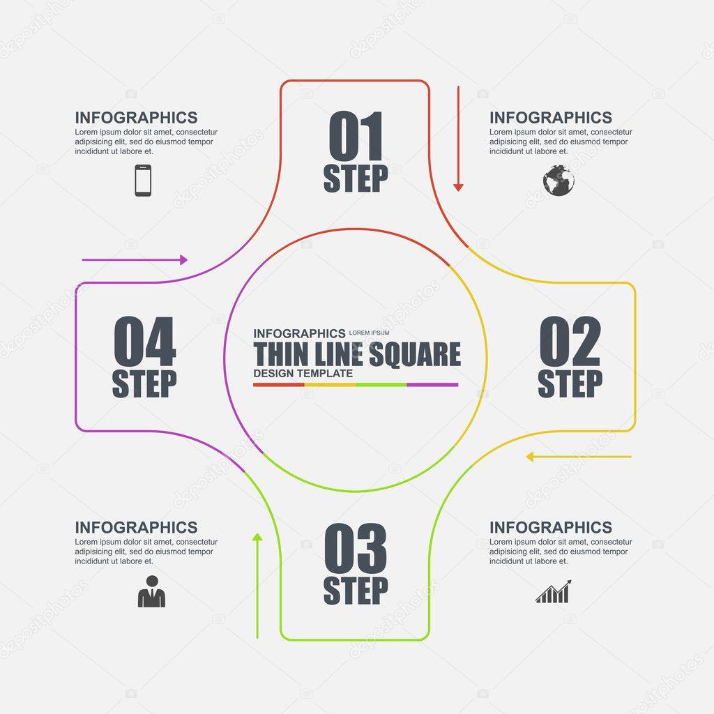 Dünne Linie flach minimal Infografik Elemente Vektor Vorlage ...