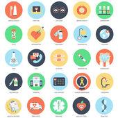 Fotografie Flat conceptual icon set of healthcare and medicine