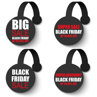Black friday wobbler sale banner set