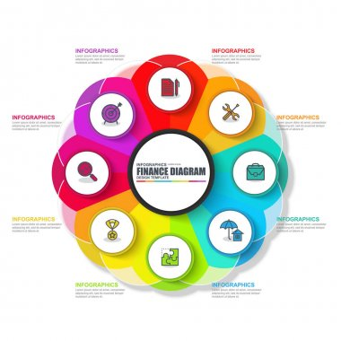 Infographic business circle vector design template