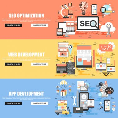 Flat concept set of search engine optimization tools