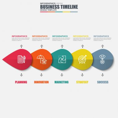 Infographic timeline vector design template