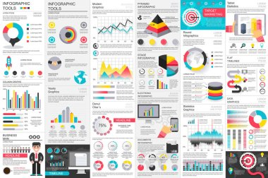 Infographic business data visualization