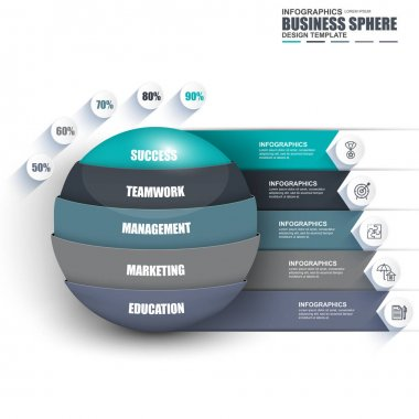Infographic business sphere data visualization