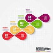 Vizualizace dat obchodní krok infografika